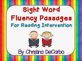 http://www.teacherspayteachers.com/Product/Sight-Word-Fluency-Passages-For-Reading-Intervention-427677