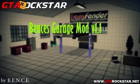 Bences Garage Mod v1.1 (Garagem Multifuncional) 2016 para GTA San Andreas
