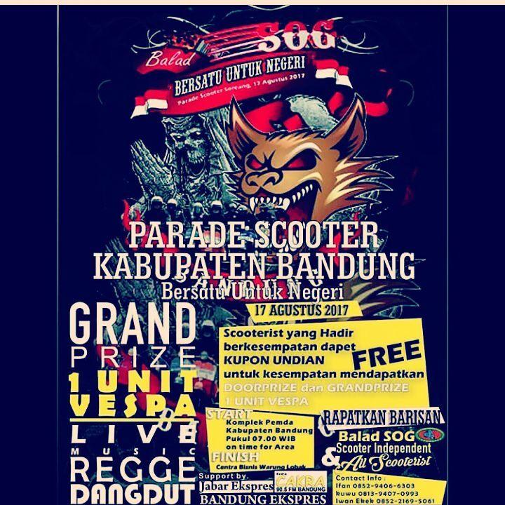 Parade Scooter Kabupaten Bandung 2017