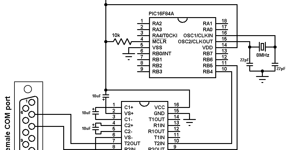 Software UART for PIC16F84A microcontroller