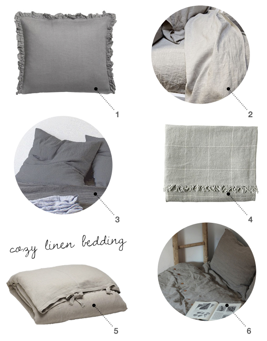 Cozy linen bedding shopping suggestions by My Paradissi