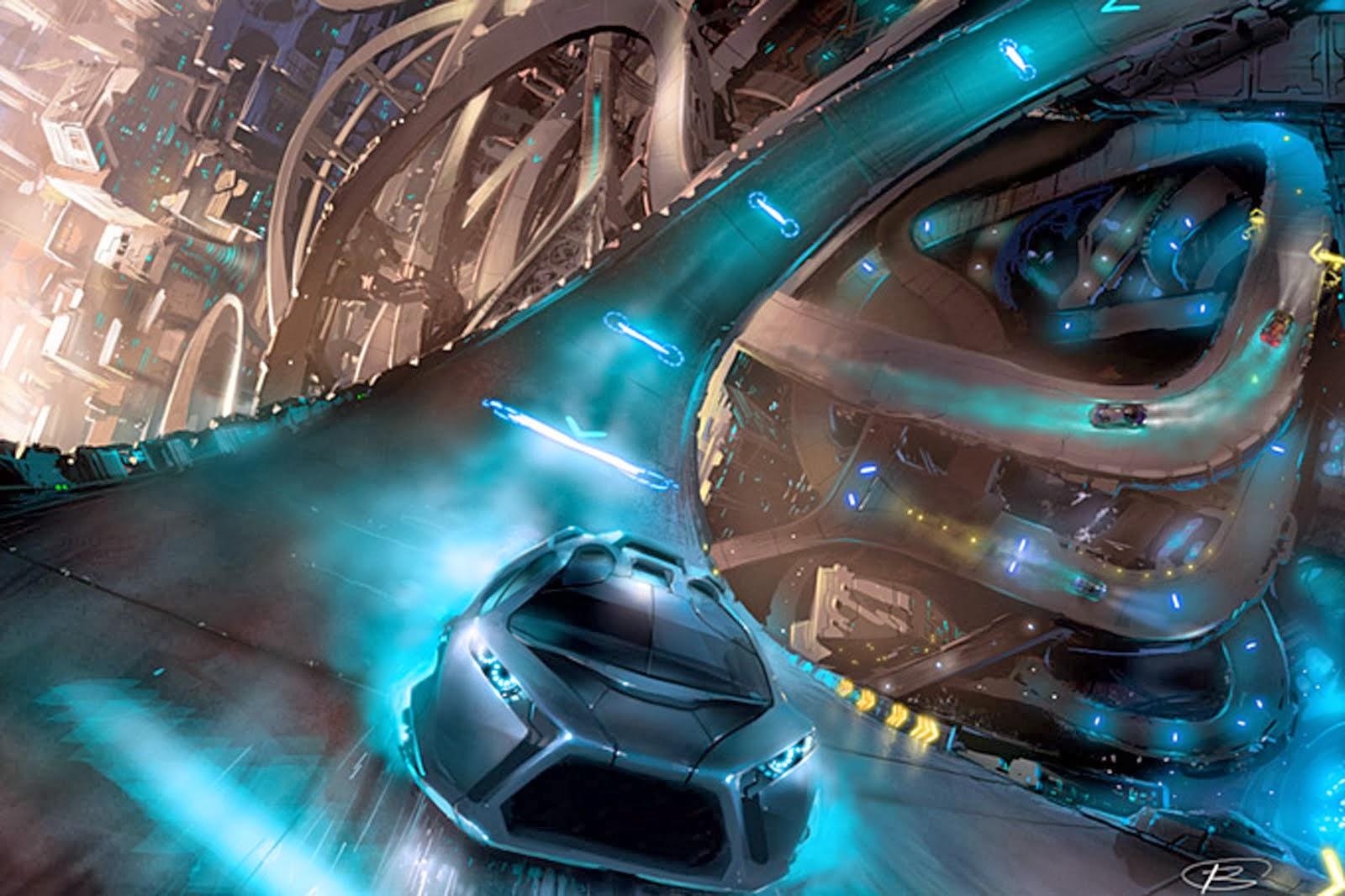 Futuristic Race Car Concept