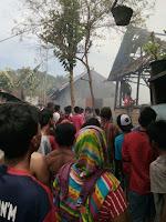 Lima Unit Rumah di Desa Sari Sape Terbakar, Seorang Balita Terluka