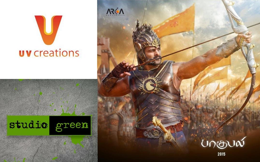 Baahubali Movie Tamil Distribution Rights Purchased By Studio Green and UV creations