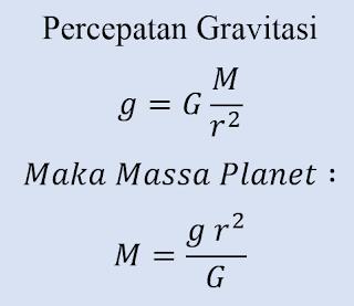 Hukum Gravitasi Newton - Menentukan Massa Planet