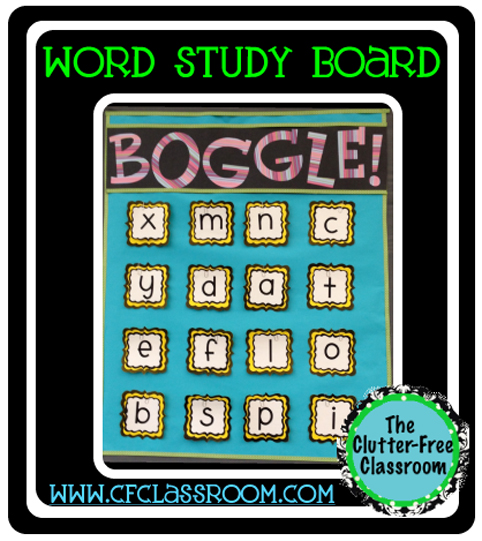 graphic relating to Boggle Printable named BOGGLE CLASSROOM Show Routines for EARLY FINISHERS