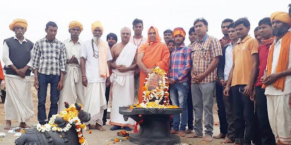 छः दिवसीय धर्म जागरण यात्रा का समापन ,अखण्डानंद बाहुबली भोलेनाथ की हुई स्थापना