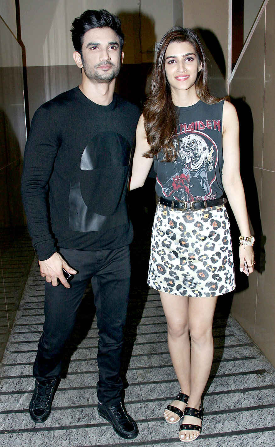 Sushant Singh Rajput and Kriti Sanon Screening of Raabta at PVR