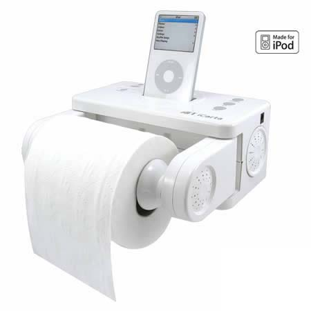 Funny Apple Gadget iPoo Picture Toilet Roll Image