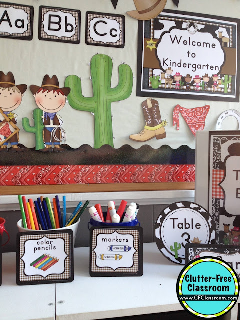 Classroom Decor Download : Western themed classroom ideas printable