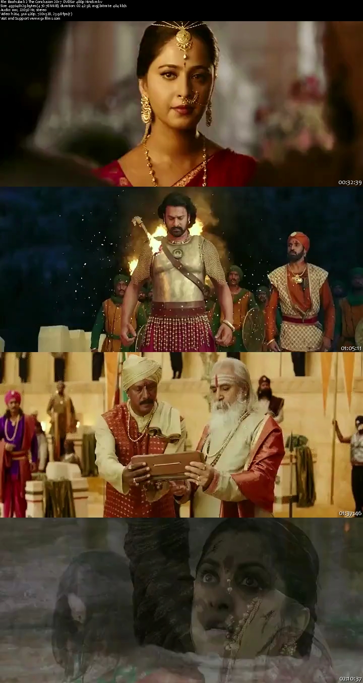 Baahubali 2 The Conclusion 2017 DVDScr 480p Hindi