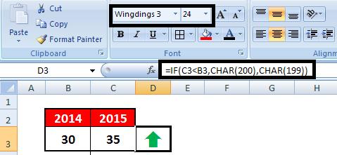 Excel : Interactive Up Down Arrows