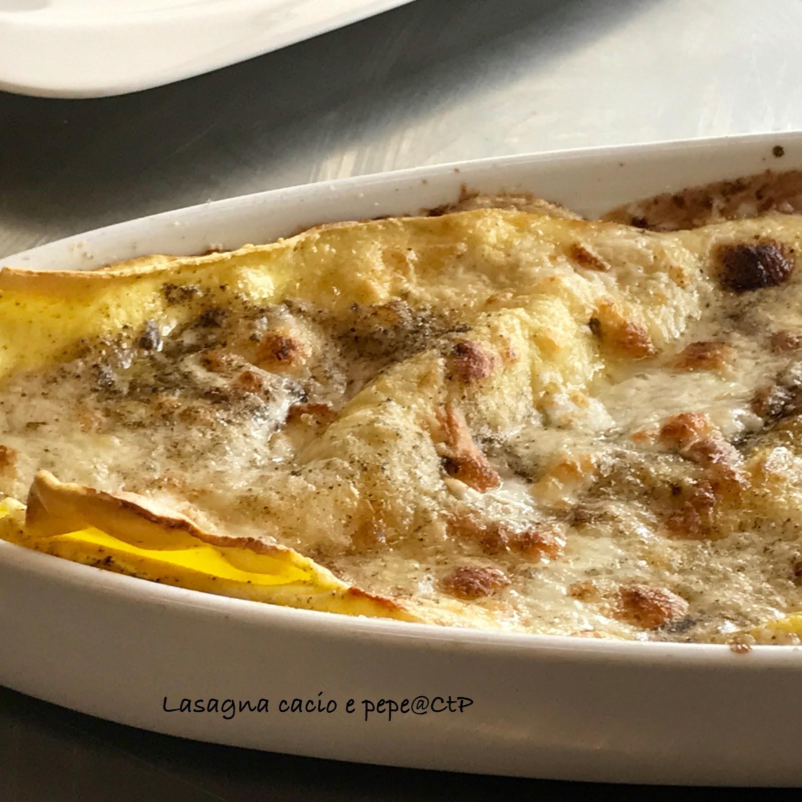 Lasagna Cacio e Pepe.. la ricetta di alessandra ruggeri besciamella pecorino e pepe