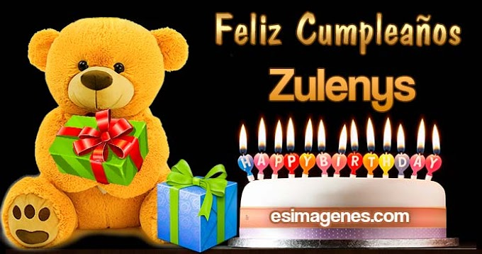 Feliz Cumpleaños Zulenys
