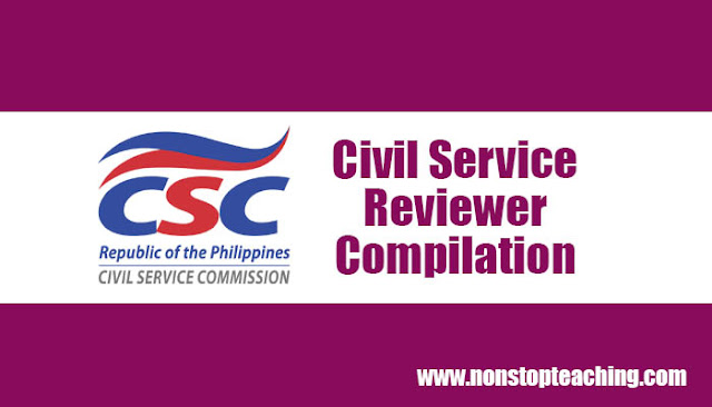 Civil Service Exam Reviewers Compilation
