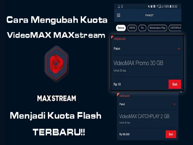Cara Ubah Kuota MAXstream Menjadi Kuota Flash Terbaru 2019