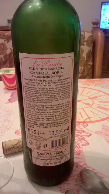 La riada, old vines, garnacha, Fuendejalón, Campo de borja, reverso