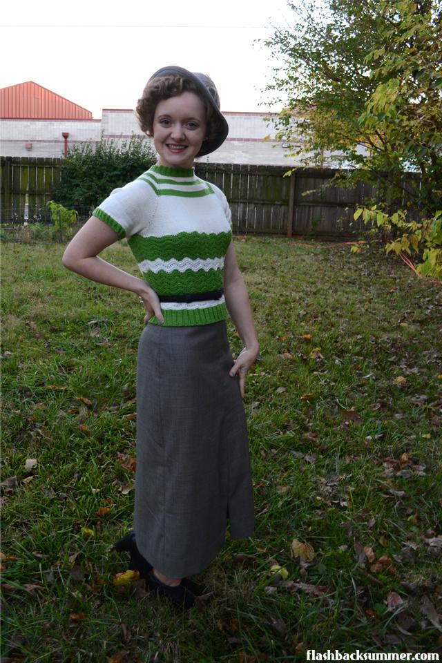 Flashback Summer: 1930s Art Deco Sweater - vintage knitting