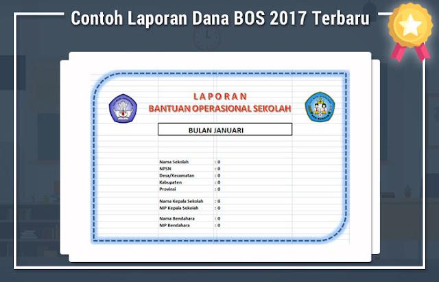 Contoh Laporan Dana BOS 2017 Terbaru
