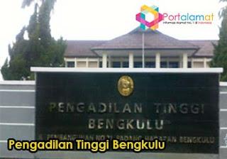 Alamat Pengadilan Tinggi Bengkulu