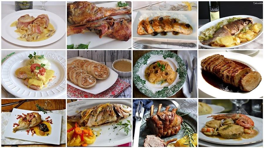 Segundos platos, carnes y pescados para Navidad. Julia y sus recetas