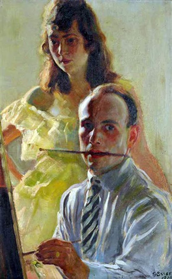 Frantisek Vaclav Süsser, Self Portrait, Portraits of Painters, Frantisek Vaclav, Fine arts, Portraits of painters blog, Paintings of Frantisek Vaclav, Painter Frantisek Vaclav