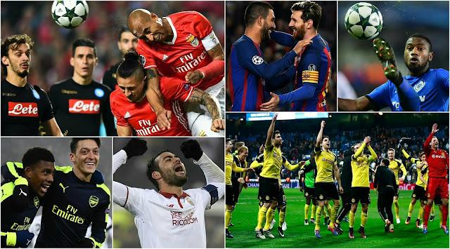 Resumo da fase de grupos da Champions League