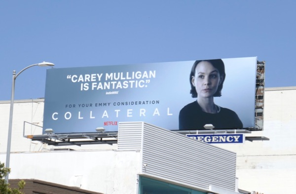 Carey Mulligan Collateral 2018 Emmy FYC billboard