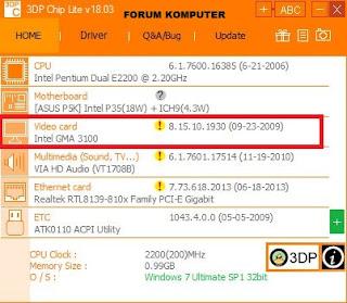 Cara Update dan Instal Driver Menggunakan 3DP Chip