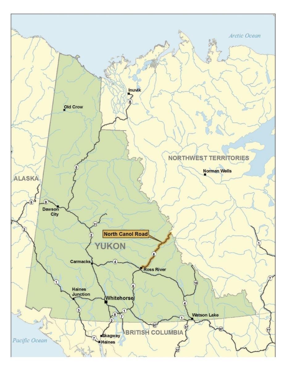 the canol road yukon canada