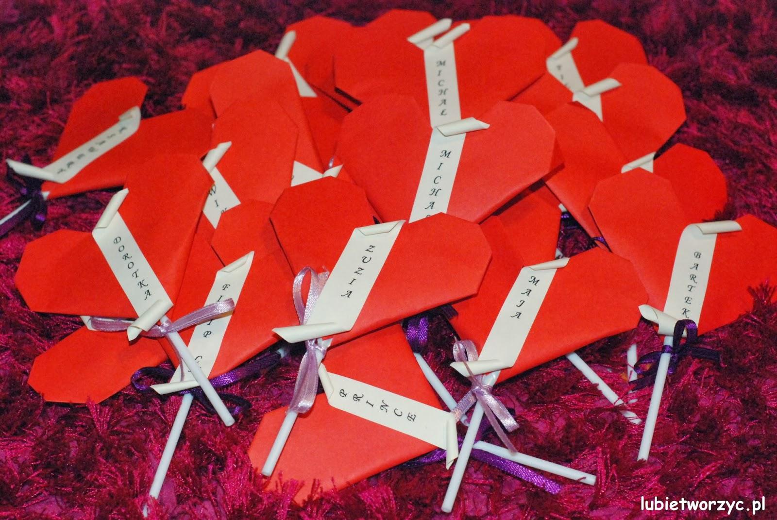 Lubię Tworzyć Serce Origami Z Niespodzianką Jako Prezent Walentynkowy