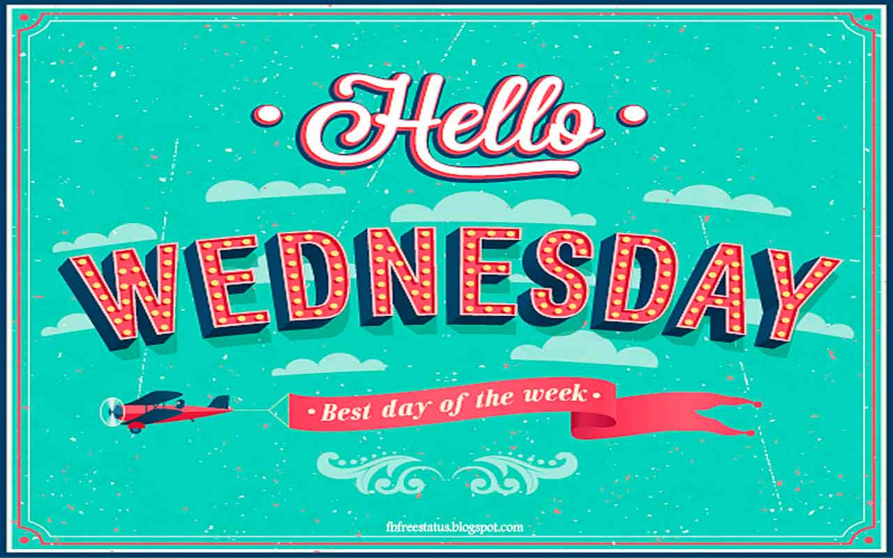 Hello Wednesday, best day of the week.