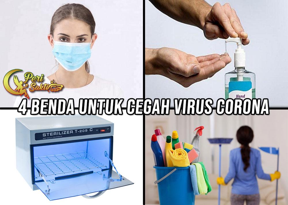 4 Benda Untuk Cegah Virus Corona