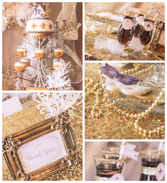 Mardi Gras party inspiration styled by Fizzy Party