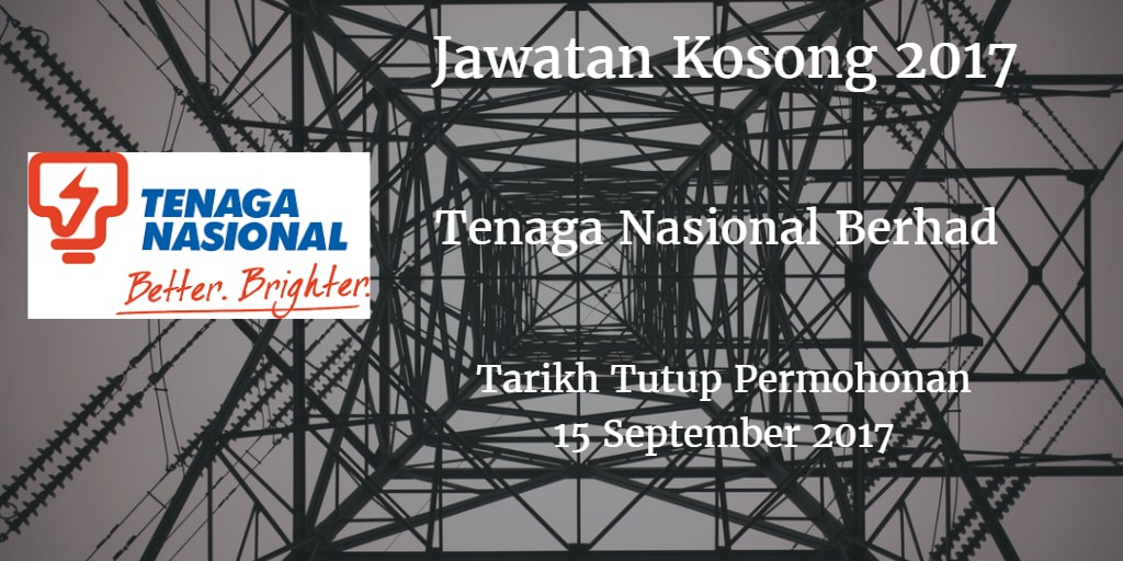 Jawatan Kosong TNB 15 September 2017