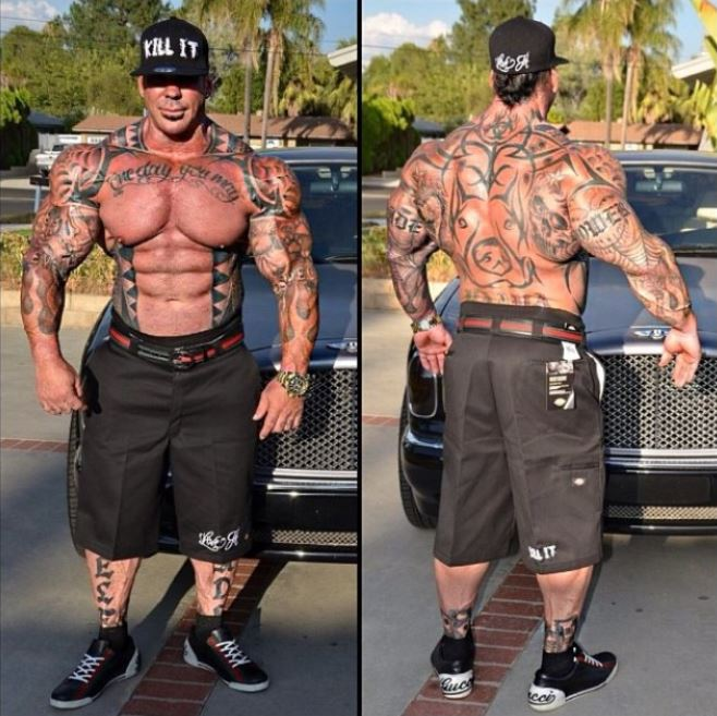Rich Piana tatuajes