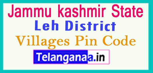 Leh District Pin Codes in Jammu kashmir State