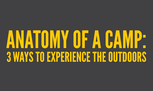 Anatomy of a Camp: 3 Ways to Experience the Outdoors