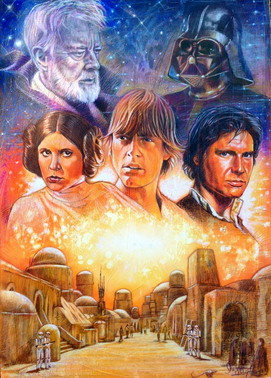 A New American Girl Doll Debuts: The Geeky Nerfherder: Cool Art: 'A New Hope' By Paul Shipper