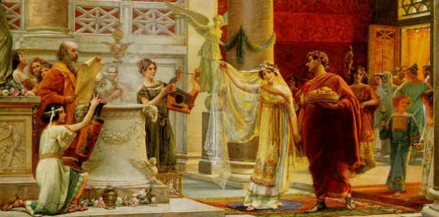 Boda, matrimonio y Derecho de la antigua Roma