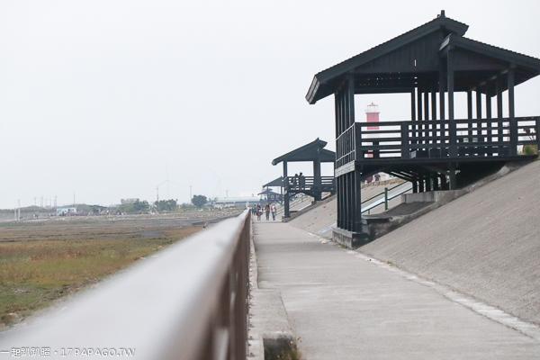 高美濕地濱海自行車道、濕地步道