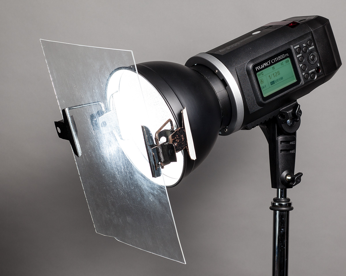 How To Attach Lighting Gels To Studio Amp Battery Flash