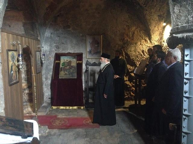 Επίσκεψη του Μητροπολίτη Ύδρας Εφραίμ στην Μονή Αγίου Δημητρίου Αυγού