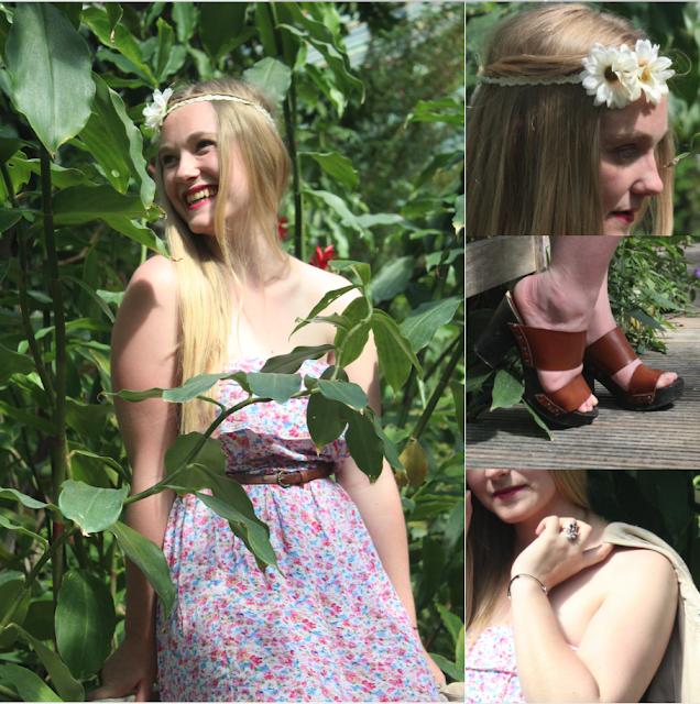 porter une robe à fleur