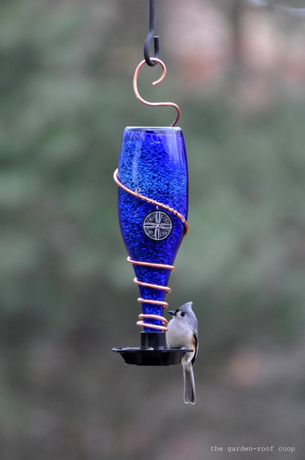 Rebecca 39 s bird gardens blog diy glass bottle bird feeders for How to make a cool bird feeder