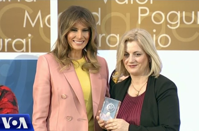 Melania Trump and Feride Rushimit