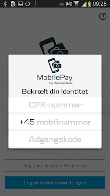 Fake MobilePay activity