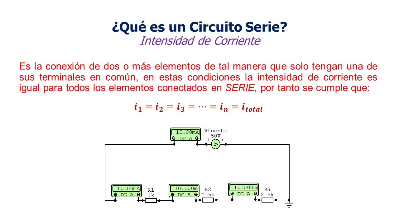 Circuito En Serie : Electricidad resistencias en serie circuito en dc
