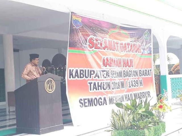 Yasin Payapo Sambut 104 Jemaah Haji Seram Bagian Barat