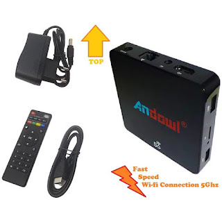 smart tv box android 8.1 4gb 32gb 5g andowl q-m6